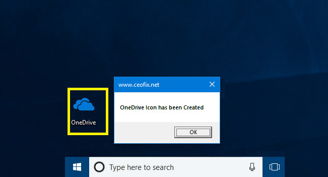 How To Add Or Remove OneDrive icon From Windows 10 Desktop
