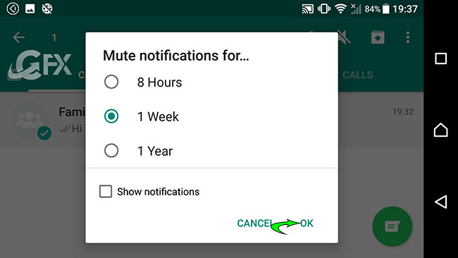 How to Mute a Group Chat or Friends Chat on WhatsApp