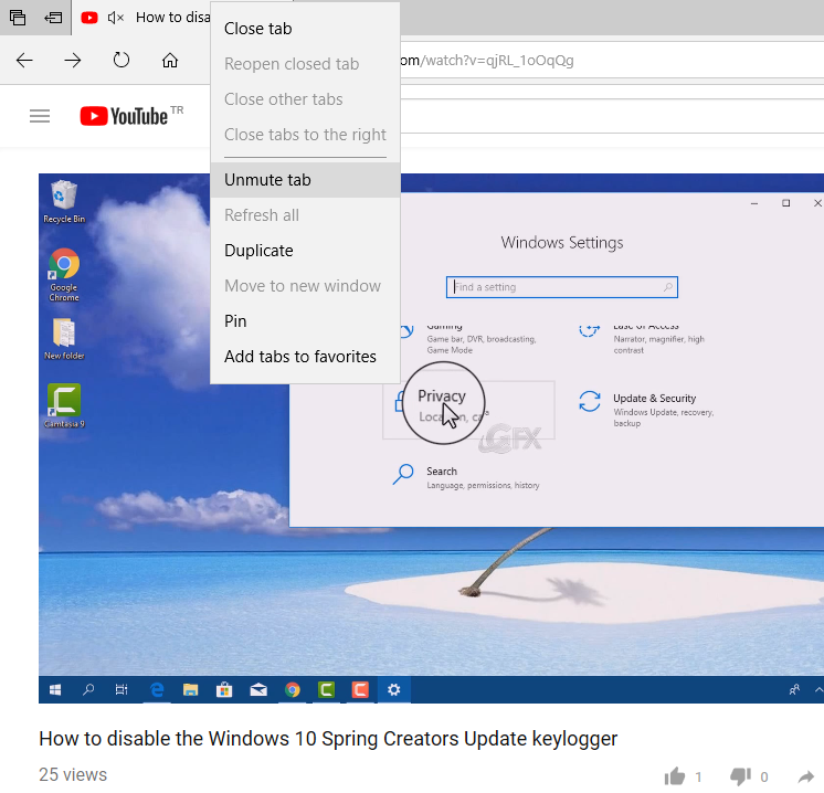 How to Mute a Tab in Microsoft Edge