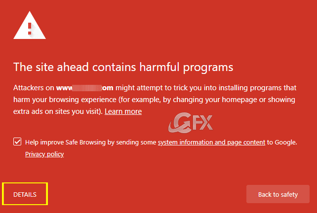 Google Chrome: The Site Ahead Contains Harmful Programs