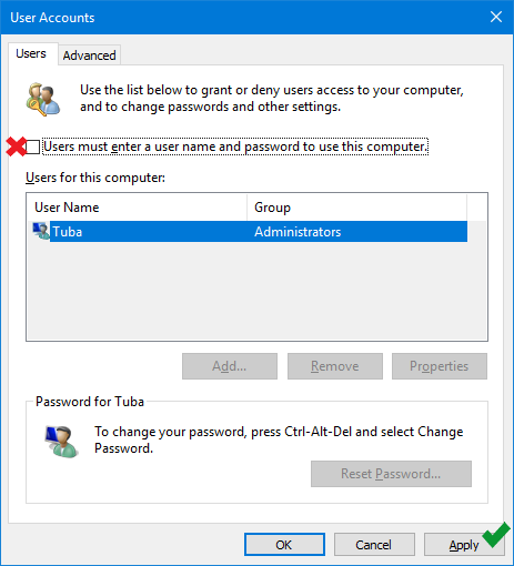 How to Skip the Logon screen in Windows 10
