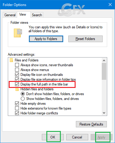 How To Display Full Path Of Files And Folders İn Windows 10