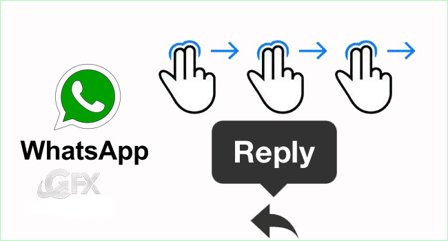 Whatsapp Feature Swipe to Reply