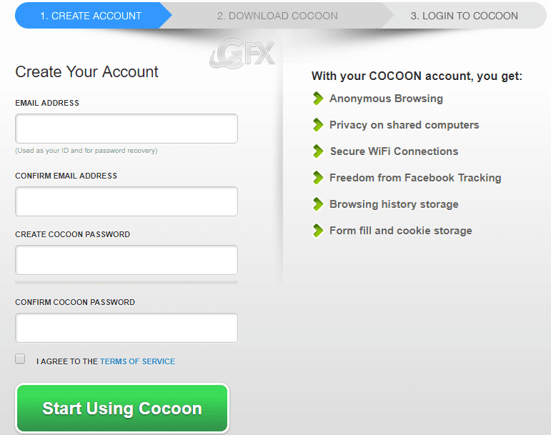 Free Web Browser Cocoon Offers Built-in VPN Features