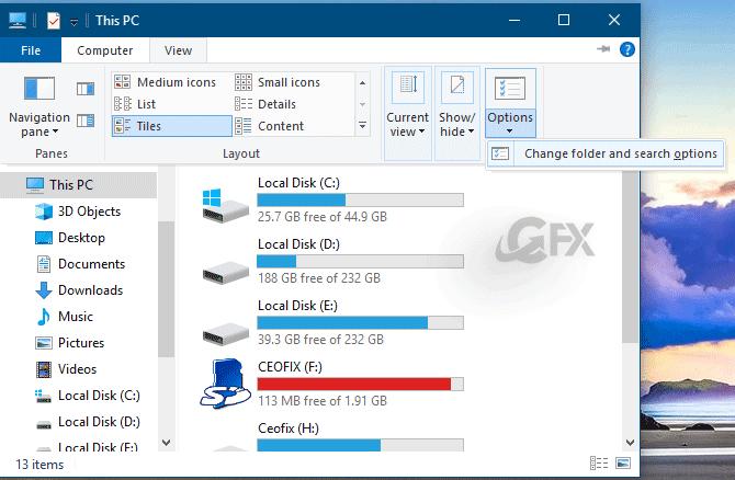 Folder Options