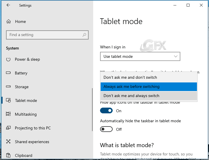 How to Enable or Disable the Tablet Mode in Windows 10