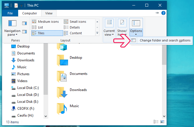 How to Configure Windows 10 File Explorer to Open with This PC View