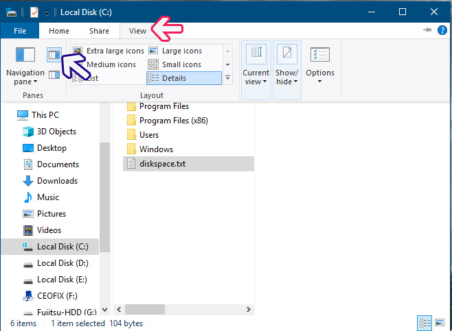 To Show or Hide Preview Pane from File Explorer Ribbon