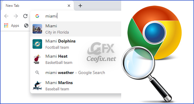 Disable images in Chrome's Address Bar Search Results
