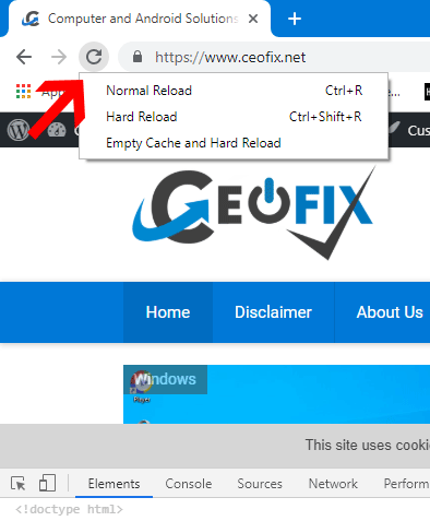 Force Refresh in Your Internet Browser