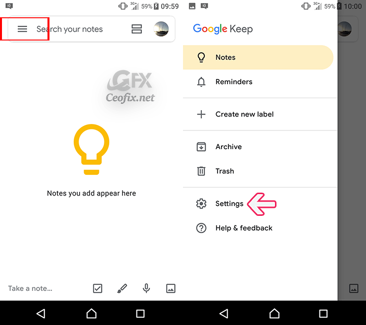 How to Enable Dark Mode in Google Keep app and Calander