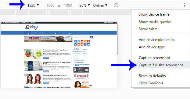 How To Take Full Page Screenshot in Chrome Without Extensions