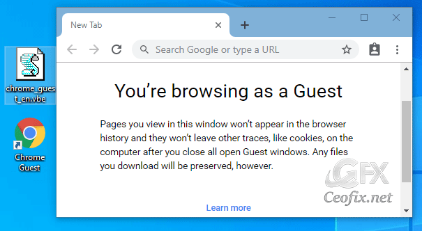 Always Start Google Chrome in Guest Browsing Mode
