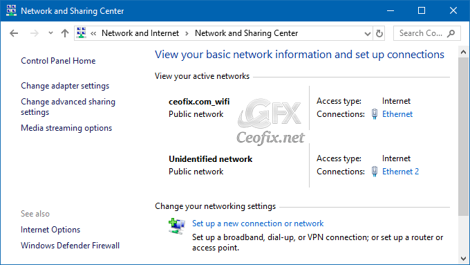Change Network Profile to Public or Private in Windows 10