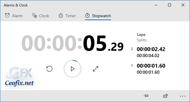 How to Use Stopwatch in Windows 10