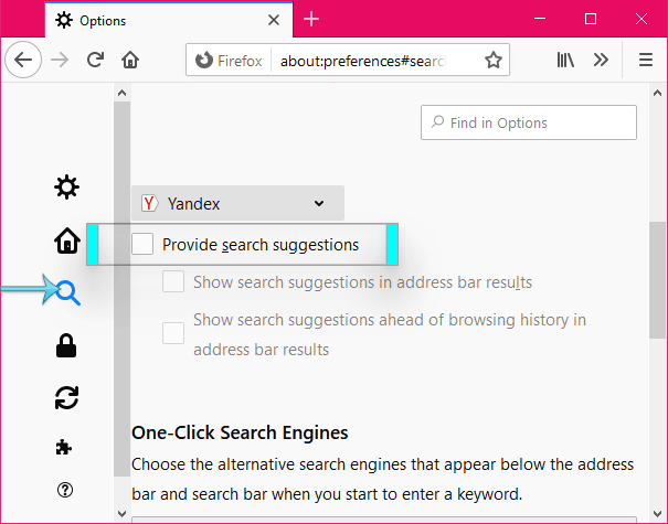 Provide search suggestions