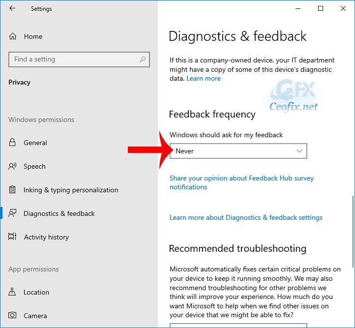 Disable or Uninstall Feedback Hub App in Windows 10