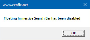 Enable or Disable Floating immersive Search Bar in Windows 10