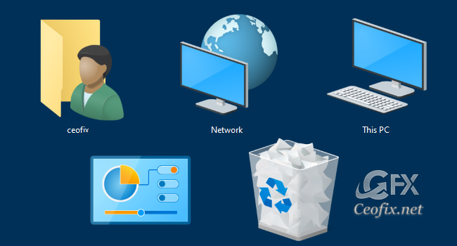 Missing My Computer – My Network Places or My Documents icon