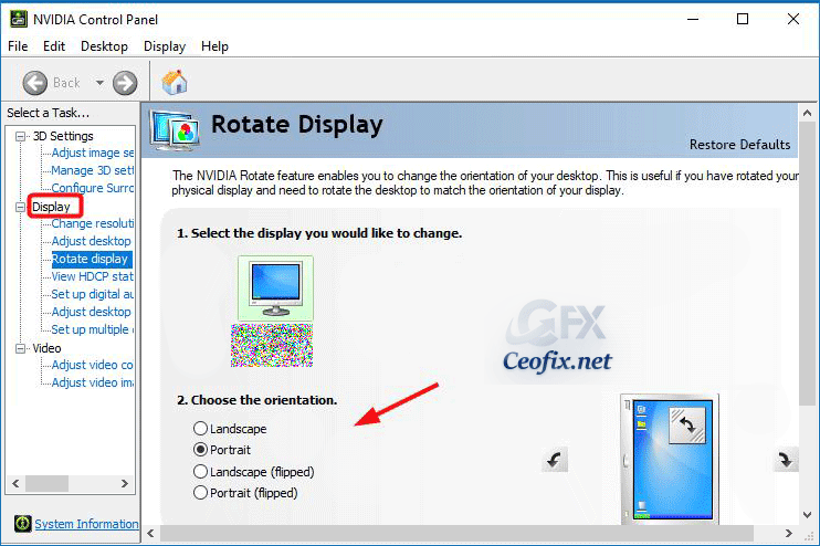Rotate Screen or Fix a Windows Screen Flipped Upside Down
