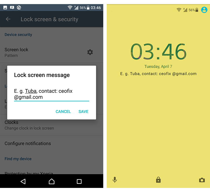 How to add information with your Android lock screen