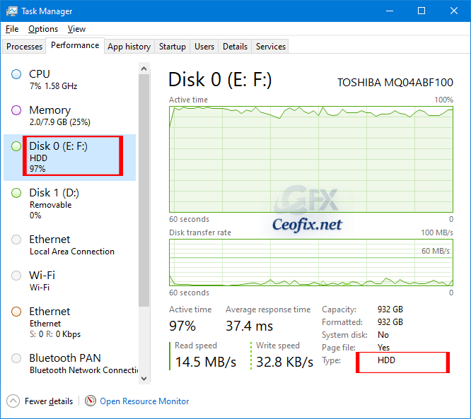 Find If Your Drive is SSD or HDD in Windows 10