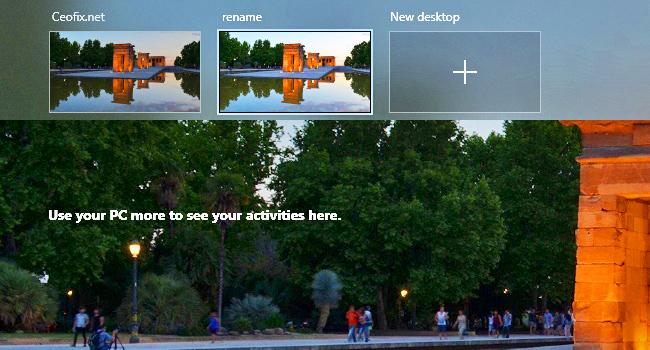 How to Rename Virtual Desktops in Windows 10