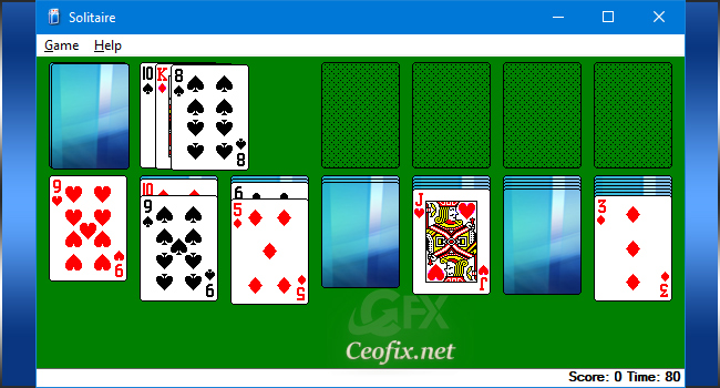 Play Classic Windows XP Solitaire In Windows 10