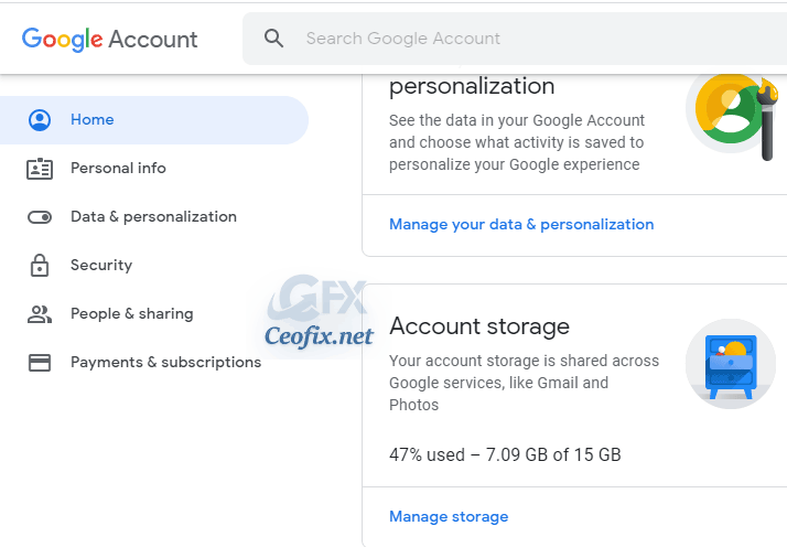 gmail account storage