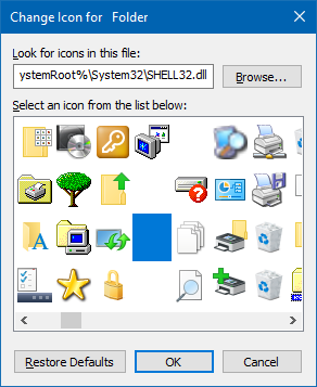 create a Folder without any name and icon in Windows OS?