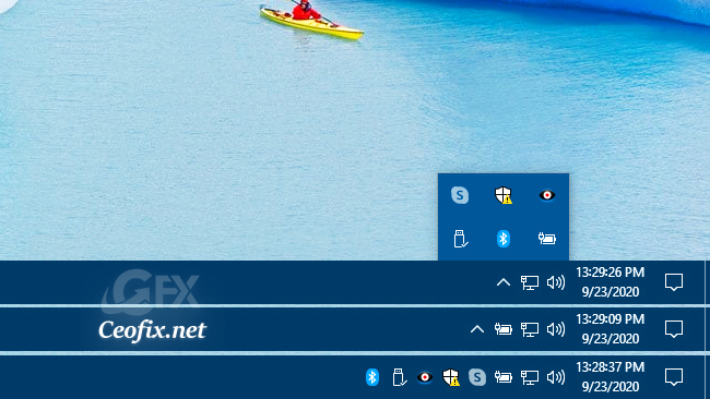 Make the Small Arrow Up Icon Visible on the Taskbar