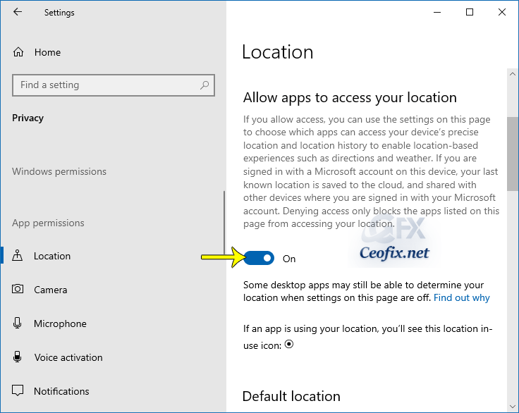 Control Which Apps Can Access Your Location