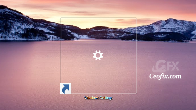 Create The Windows Settings Shortcut in Windows 10