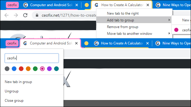 How to Use Tab Groups in Chrome