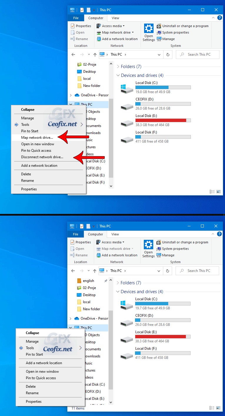 2 Ways to Remove Map Network Drive From Context Menu