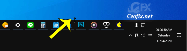 How to Change Height or Width Size of Taskbar in Windows 10