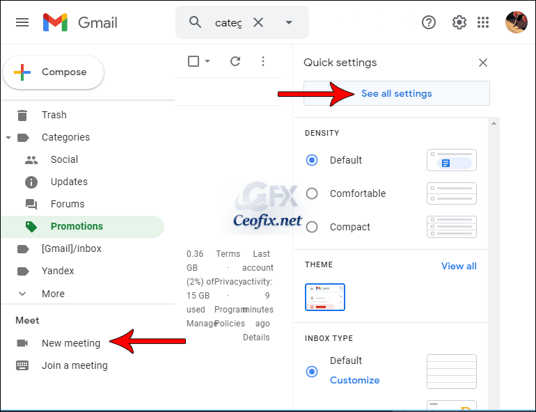 How to remove the Meet Section from Your Gmail Inbox