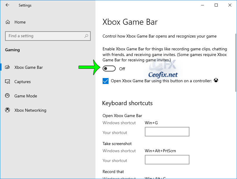 How to Enable or Disable Windows 10 Xbox Game Bar
