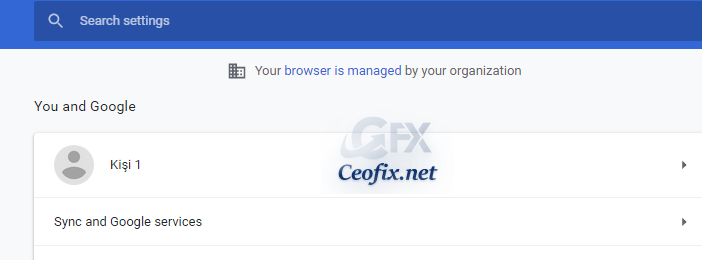 Your browser is managed by your organization