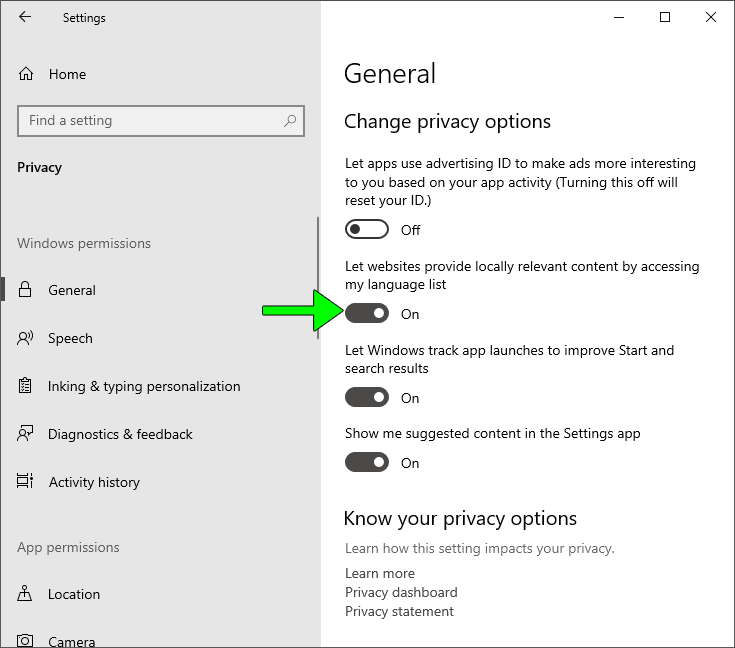 """Fix """"Show most used apps"""" Start setting grayed out in Windows 10"""