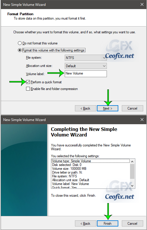 simple volume wizard windows