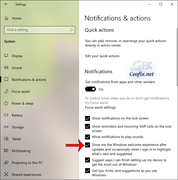 Stop Windows 10 from displaying Windows Welcome Experience page