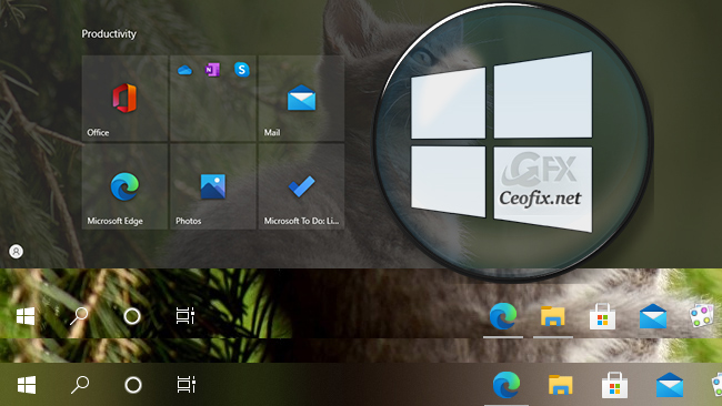 Make Taskbar & Alt Tab Switcher 100%Transparent on Windows 10
