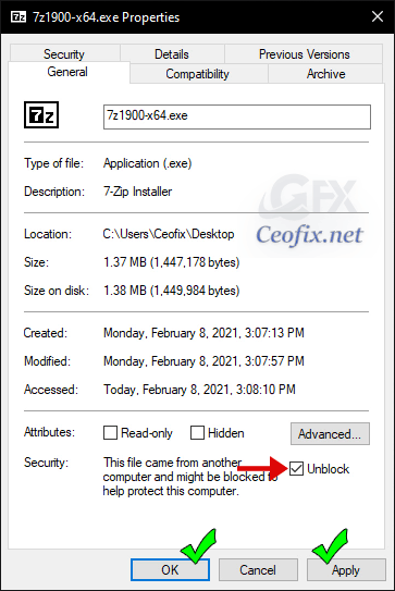 Download and Installation of 7zip