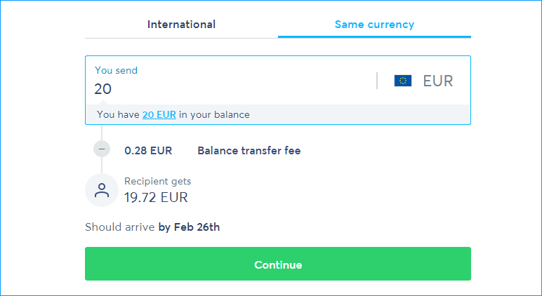 DonateWith Transfer Wise