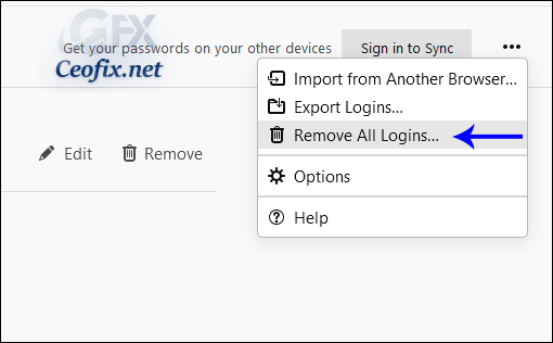 Remove All Saved Passwords at Once in Firefox