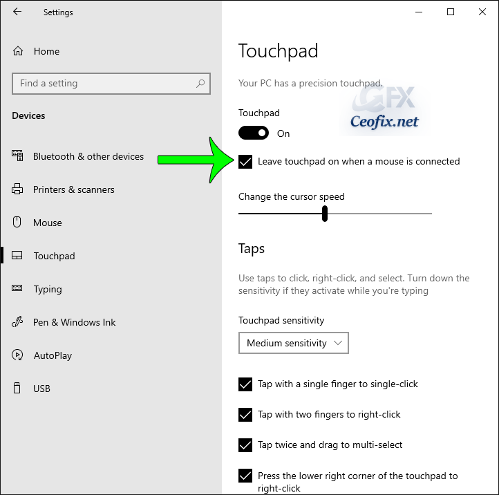 Disable the touchpad functionality when a mouse is connected