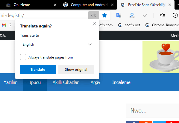 How to Translate a Page in Microsoft Edge