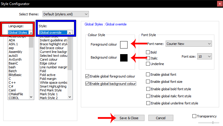 How to Change Notepad++ Background And Font Color