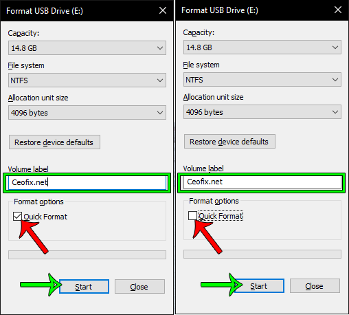 How to format a USB flash drive?